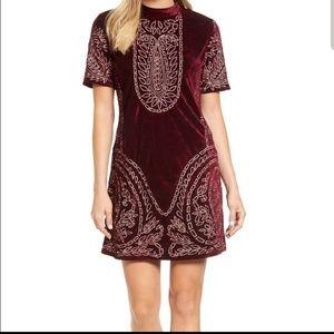 Kas New York Lillie Velvet Boho Dress sz Large